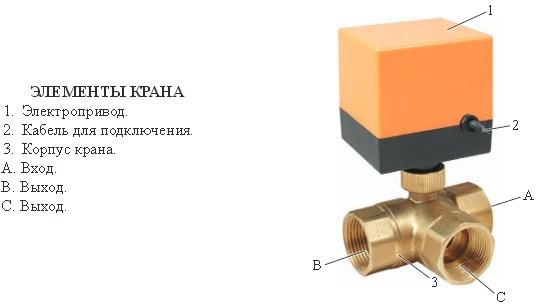 Кран шаровой неполнопроходной с электроприводом